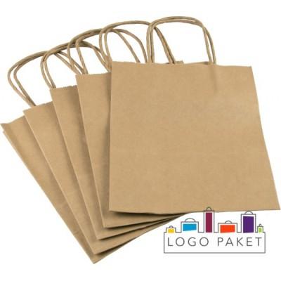 Готовые крафт-пакеты с кручеными ручками