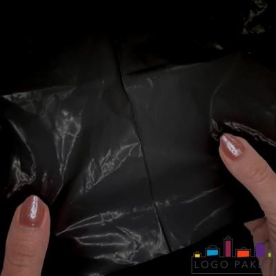 Готовый ПВД пакет черный с прочным швом
