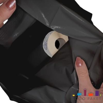 Готовый ПВД пакет черный  вид внутри