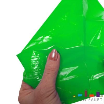 Готовый ПВД пакет зеленый с прочными швами