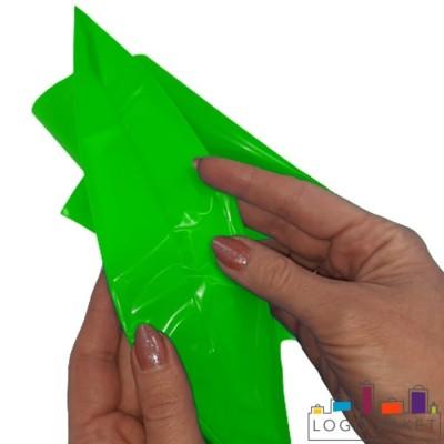 Готовый ПВД пакет зеленый  донная складка