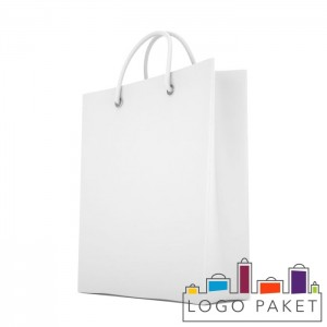 Готовый ПНД пакет белый 100 мкм с люверсами серебро