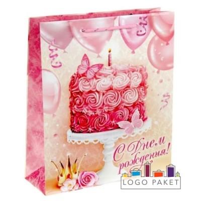 Подарочные пакеты «С днем рождения» на заказ
