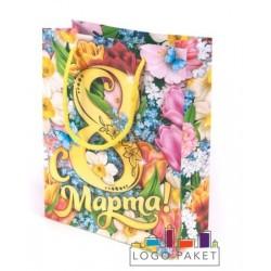 Подарочные пакеты «С 8 марта» на заказ