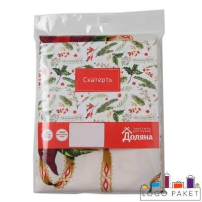 Брендированные пакеты для индивидуальной упаковки текстильных изделий группы столовый текстиль
