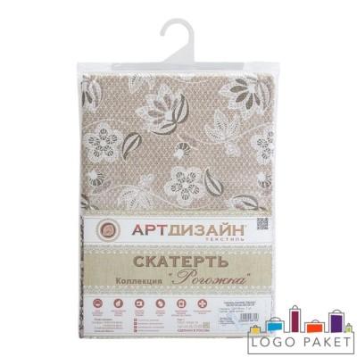 Брендированные пакеты для индивидуальной упаковки текстильных изделий группы столовый текстиль с крючком