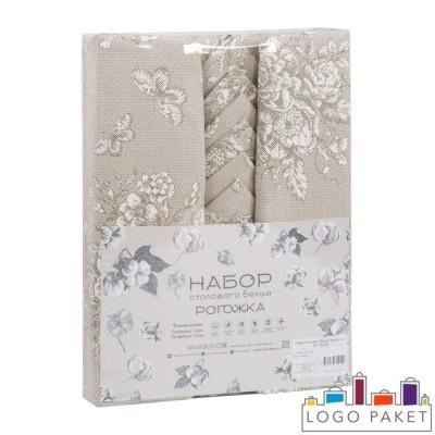 Пакеты для индивидуальной упаковки текстильных изделий группы столовый текстиль с вкладышем