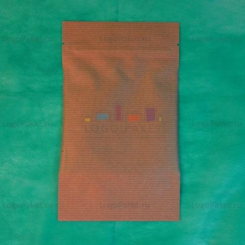 Бумажные Дой-пак крафт пакеты с замком зип-лок