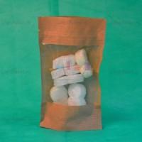 Бумажные Дой-пак крафт пакеты с прозрачным окном и замком зип-лок заказать в интернет-магазине