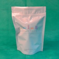 Пакеты дой-пак белые с замком зип-лок металлизированные заказать в интернет-магазине