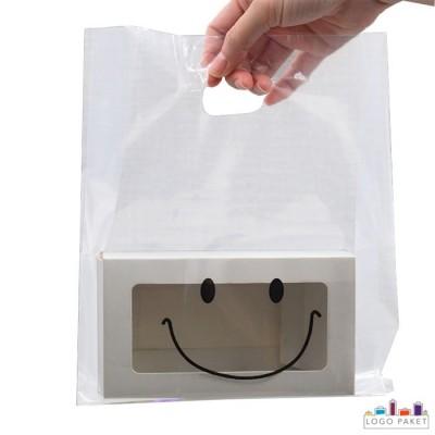 Пакет ПНД прозрачный с вырубными неукрепленными ручками и донной складкой с коробкой внутри