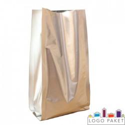 Пакет дой пак двухшовный  металлизированный с центральным швом