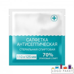 Саше пакет для антисептика с логотипом