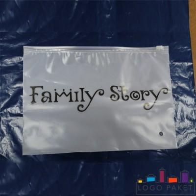Пакет zip-lock с бегунком ПВД и логотипом