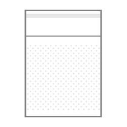 БОПП пакет с клеевым клапаном и пробивными отверстиями