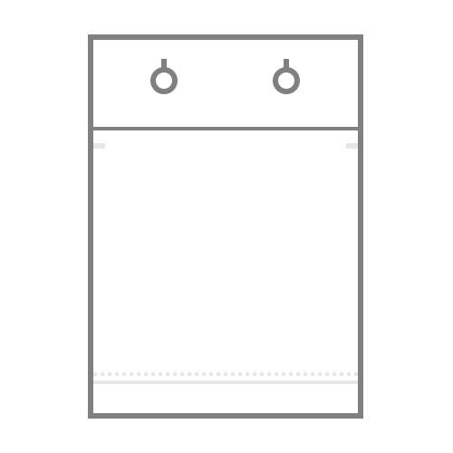 БОПП пакет  с донной складкой, строчной перфорацией вдоль складки