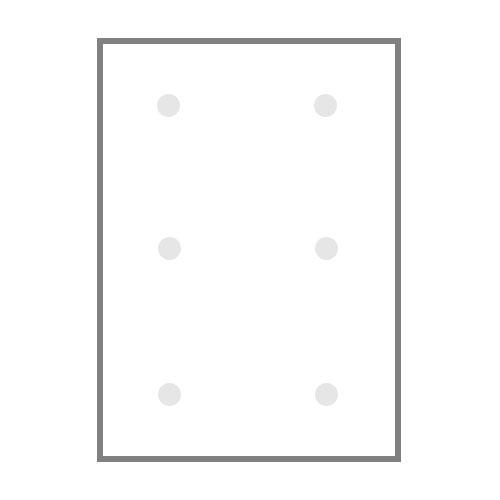 БОПП пакет без клапана, имеющие шесть пробивных отверстий