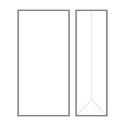 БОПП пакет 150*230*85 мм  с прямоугольным плоским дном