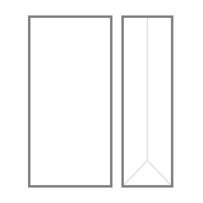 БОПП пакет 185х70х45 мм с прямоугольным плоским дном