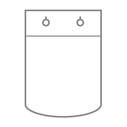 БОПП пакет с клапаном на клипсе, круглым дном и специальными просечками