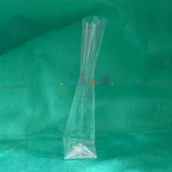 БОПП пакет 80*210*50 мм  с прямоугольным плоским дном