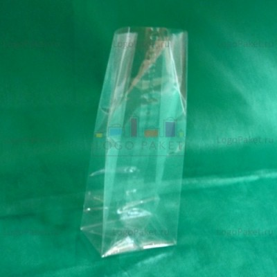 БОПП пакет 100*280*60 мм с прямоугольным плоским дном