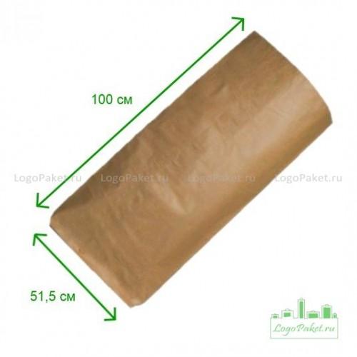 Бумажные мешки 100х51,5х9 коричневые 3-сл.
