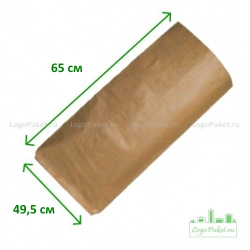 Бумажные мешки 65х49,5х13 3-сл. закрытые