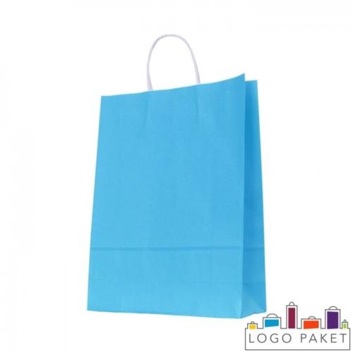 Крафтовые пакеты голубые