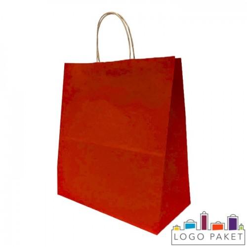 Крафтовые пакеты красные