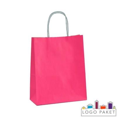 Крафтовые пакеты розовые
