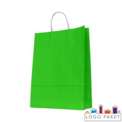 Крафтовые пакеты зеленые