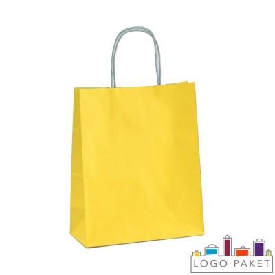 Крафтовые пакеты желтые с петлевыми ручками