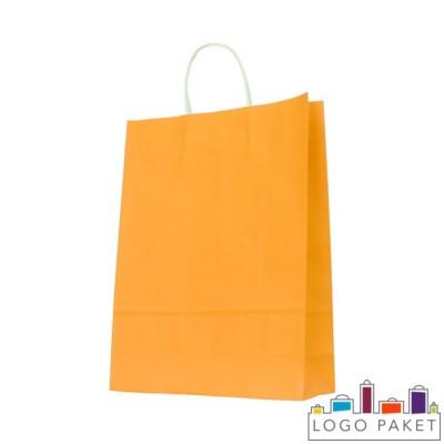 Крафтовые пакеты оранжевые
