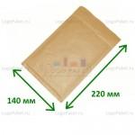 Коричневый конверт крафт 140х220