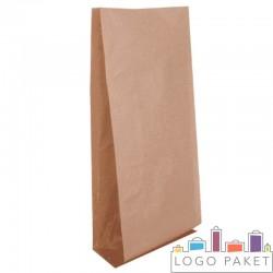 Крафт пакет с прозрачными боковыми вставками, 13×7×31 см
