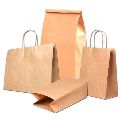 Бумажные крафт пакеты на заказ с логотипом и без