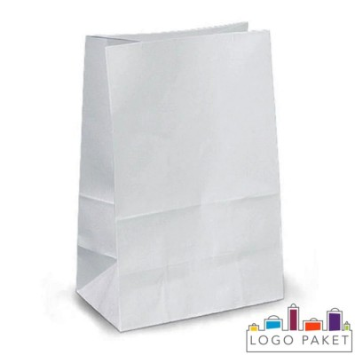 Крафт-пакет для еды на вынос белый