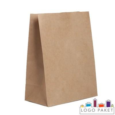 Крафт-пакет для еды на вынос бежевый
