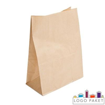 Крафт-пакет для еды на вынос с плоским дном и боковыми складками