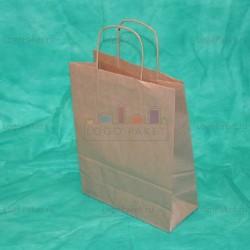 Крафт пакет 20х18х8 с кручеными ручками