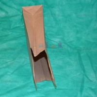 Крафт пакет 29х25х11 с кручеными ручками