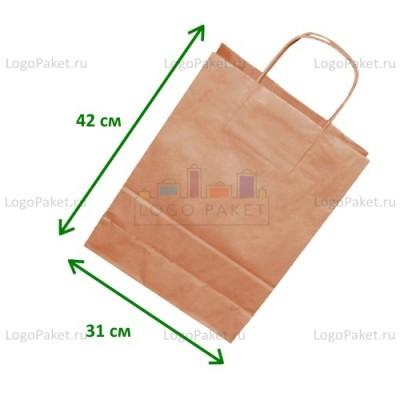 Крафт пакет 31х42х13 с кручеными ручками