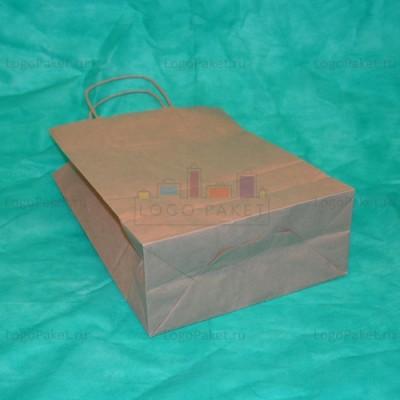 Крафт пакет 32х42х15 с кручеными ручками