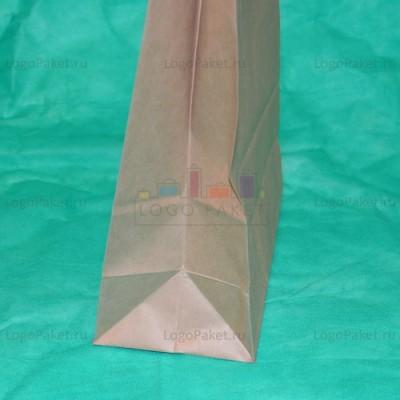 Крафт пакет 34,5х26х11 с кручеными ручками бежевый