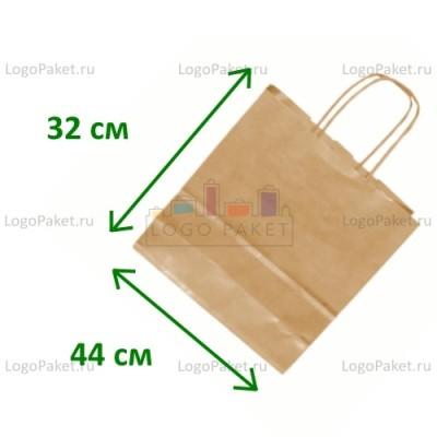 Крафт пакет с тиснением под вельвет 44х32х15