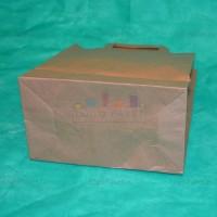 Пакет крафт 37х32х20 с плоскими ручками