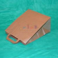 Пакет крафт 48х44,5х18 с плоскими ручками