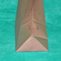 Пакет крафт 45х24х15 с плоскими ручками