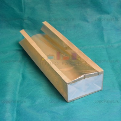 Крафт-пакеты с прозрачным окном вид снизу показано дно пакета